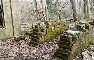 Dead Man's Hollow - The ruins of a pipe factory in Dead Man's Hollow
