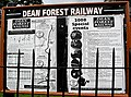 Dean Forest Railway information board at Parkend - geograph.org.uk - 810139.jpg