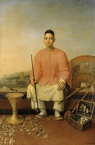 Magua (clothing) - A Manchu wearing a magua painted by Pierre-Louis Delaval