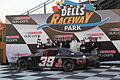 Dells Raceway Park Andrew Morrissey Wins Falloween 2015.jpg