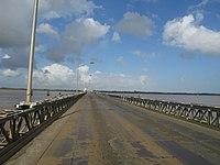 Demerara Harbour bridge crossing.JPG