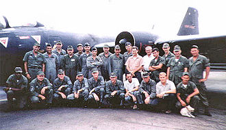 Tan Son Nhut Air Base - Det 1 460th Tactical Reconnaissance Wing Tan Son Nhut Air Base South Vietnam with RB-57E 55-4264, early 1968