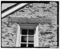 Detail view, inscribed lintel stone above the west third-floor window in the south wall. - John Bartram House and Garden, House, 54th Street and Lindbergh Boulevard, Philadelphia, HALS PA-1-A-26.tif
