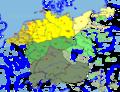Deutsch-Niederländischer Sprachraum (nach Werner König).png
