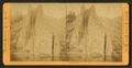 Devil's Slide (parallel vertical strata of hard rock) from the railroad, looking south, by Muybridge, Eadweard, 1830-1904.png