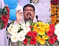 Dharmendra Pradhan addressing the gathering at the dedication ceremony of new building, entry point and reservation counter at Bhubaneswar railway station, in Odisha.jpg