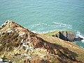 Dinas Point - that's proper steep, down there... - geograph.org.uk - 1800553.jpg