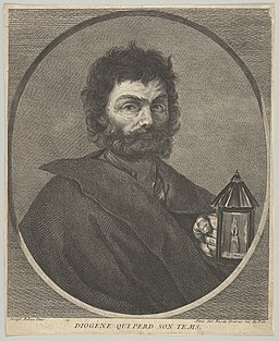 Diogenes, bust-length, and turned to the right, holding a lantern MET DP836615