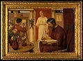 Dioscorides describing the mandrake. Oil painting by Ernest Wellcome V0018141.jpg