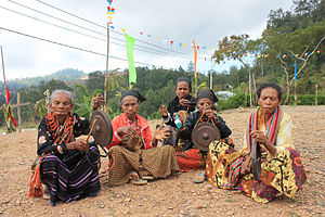 Mambai people (Timor) - Image: District Ermera, Subdistrict Letefoho, Suco Ducurai. Orchestra in front of a church