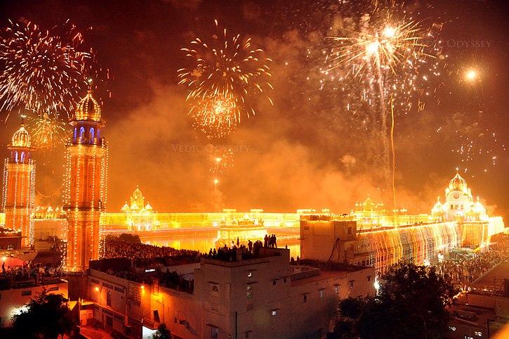 Diwali fireworks and lighting celebrations India 2012