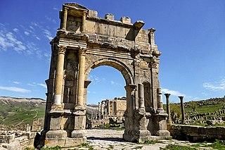 3rd-century Roman triumphal arch at Djémila in Algeria (Cuicul)