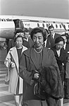 Dochter van de Keizer van Japan , Shigeko Higashikuni op Schiphol, Bestanddeelnr 910-7442.jpg