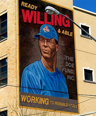 The Doe Fund - Image: Doe Fund Peter Jay Sharp Mural