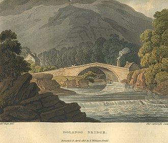 Dolanog - Dolanog Bridge by Edward Pugh 1816