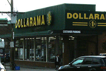 English: Dollarama discount store, 1337 Queen ...