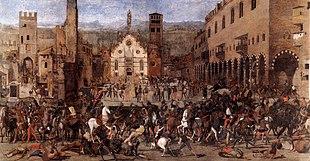 Domenico Morone, La Cacciata dei Bonacolsi (Mantova, Museo di Palazzo Ducale)