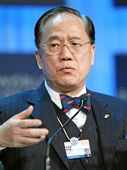 Tsang at World Economic Forum 2012 (Image: WEF)