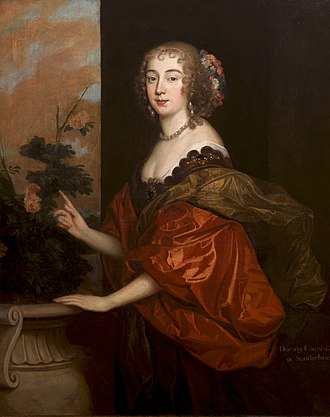 Edmund Waller - Portrait of Dorothy, Countess of Sunderland, by Anthony van Dyck. Dorothy was the subject of Waller's unrequited love, and appears in some of his poems under the name 'Sacharissa'.