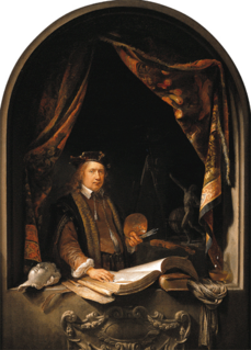 Gerrit Dou Dutch painter in 17th century