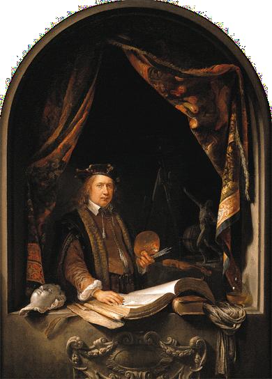 Dou, Gerard - Self-Portrait - c. 1665 no background