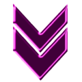 Double arrow magenta neon down.png