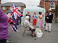 Dove release at Whitwell Diamond Jubilee 2012 street party.JPG