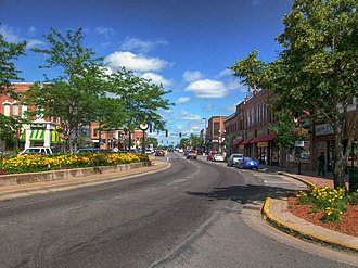 Anoka, Minnesota - Main Street in downtown Anoka, July 2009