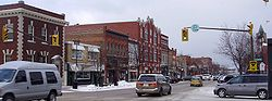 Downtown Collingwood in late December 2008