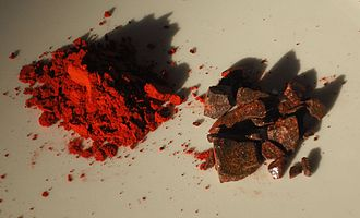 Dragon's blood - Dragon's blood, powdered pigment or apothecary's grade and roughly crushed incense
