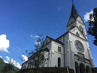 Drežnica, Kobarid - Facade and north side of Sacred Heart Church (2017)