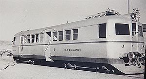 Drewry Car Co. - Drewry railcar used in Argentine Comodoro Rivadavia Railway in the 1940s.