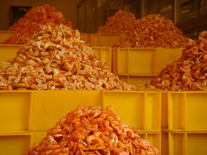Dried shrimp - Dried shrimp for sale near Bến Thành Market, Saigon