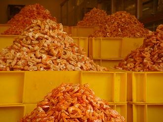Dried shrimp - Dried shrimp for sale near Bến Thành Market, Saigon