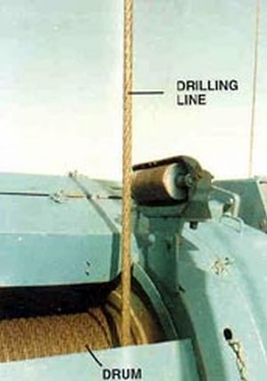 Drill line - Image: Drill line on drum