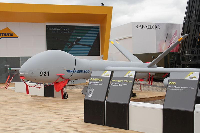 File:Drone Hermes 900 - Bourget.JPG