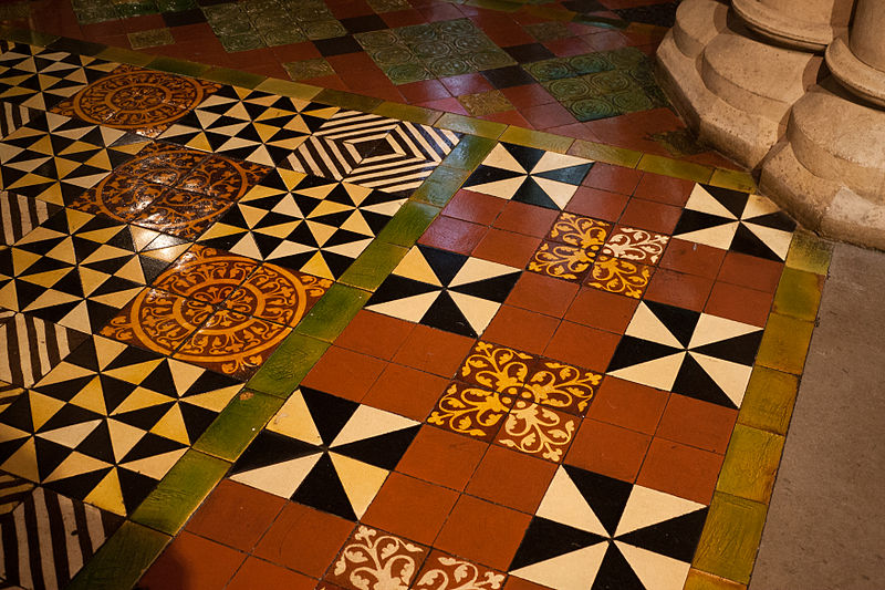 File:Dublin Christ Church Cathedral Lady Chapel Floor Tiles 2012 09 26.jpg