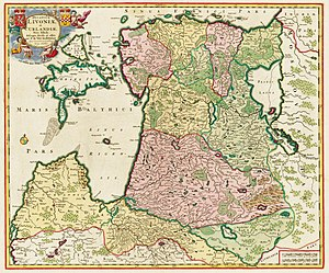Counties of Estonia - Map of south Baltic region circa 1705.