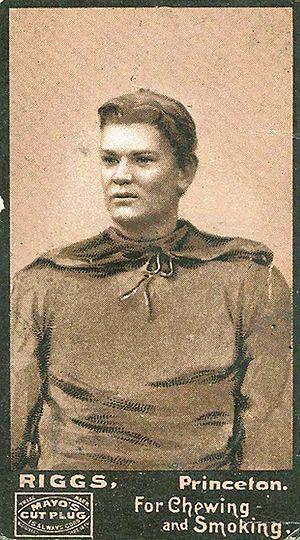 Dudley Riggs (American football) - Dudley Riggs, 1894 Mayo's Cut Plug card