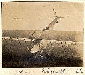 Dugny. RGA (réserve générale d'aviation). Biplan Schmidt - Fonds Berthelé - 49Fi1878-42.jpg