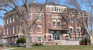 Dundy County, Nebraska courthouse from SW 1.jpg