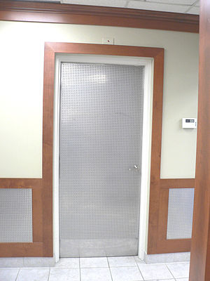 Fire door - Industrial grade fire door rated to hydrocarbon curve and blast resistance.