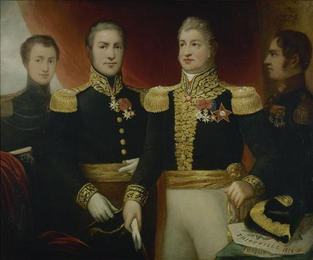 Duvidal de Montferrier - Le Général Léopold Hugo avec deux de ses frères et son fils Abel