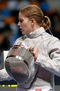 Russian sabre fencer