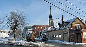 East Angus, Quebec - Image: East Angus catholic church panoramio