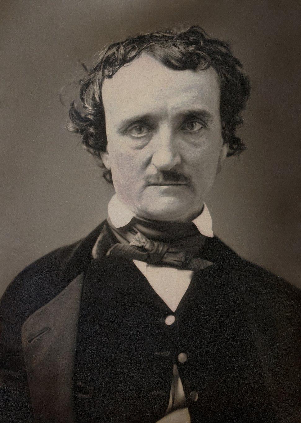 Edgar Allan Poe, circa 1849, restored, squared off
