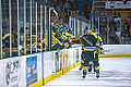 Edmonton Oilers Rookies vs UofA Golden Bears (15088613909).jpg