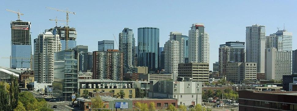 Panorama of Edmonton's downtown skyline