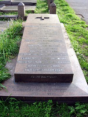 Sir Edward Ward, 1st Baronet, of Wilbraham Place - Funerary monument, Brompton Cemetery, London