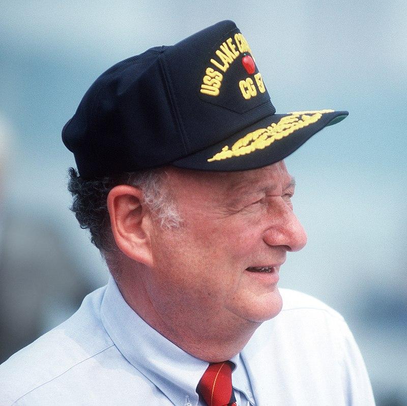 Edward Koch at commissioning of USS Lake Champlain (CG-57) cropped.jpg